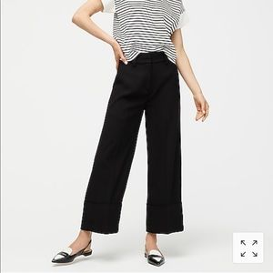 New J crew Cropped wide-leg pant in 365 crepe 10
